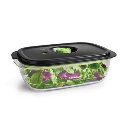 salad in vacuum food storage container