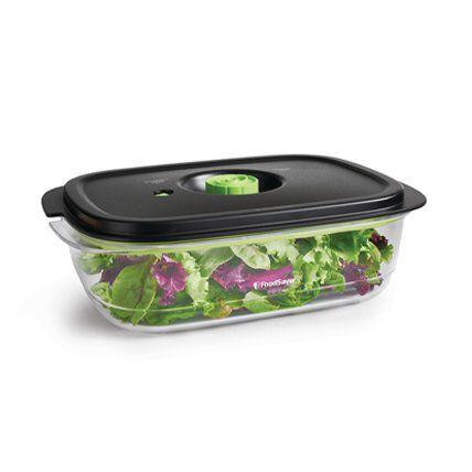 salad in vacuum food storage container