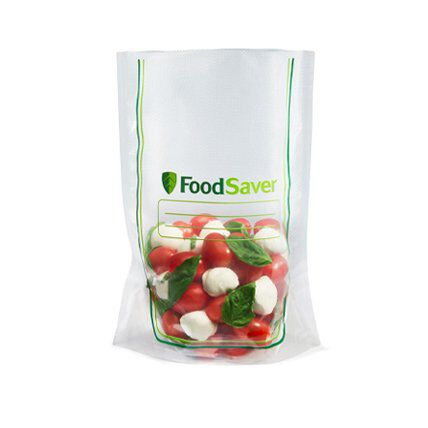 tomatoes and mozzarella in vacuum food storage bags