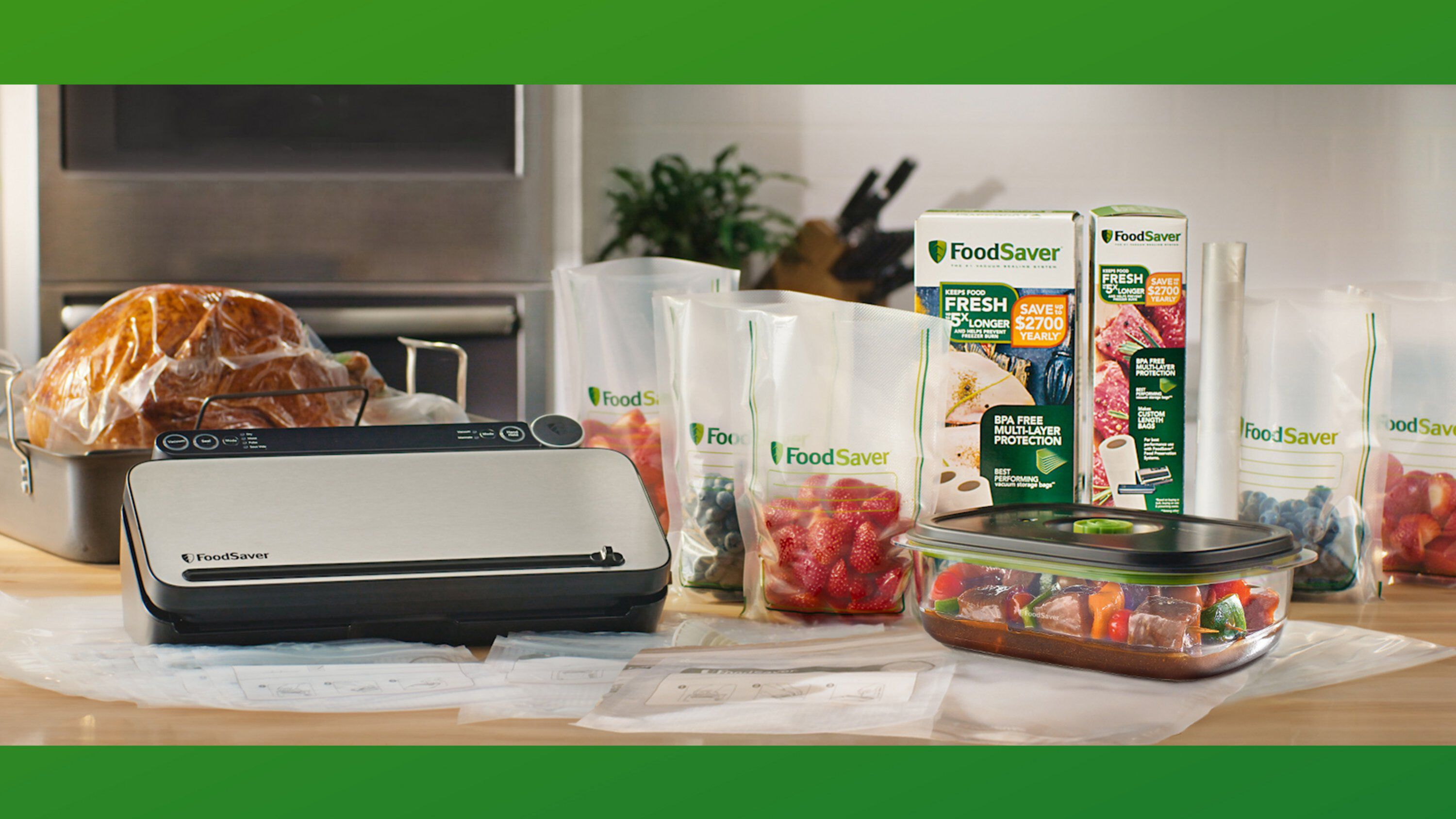 vacuum sealer with storage bags