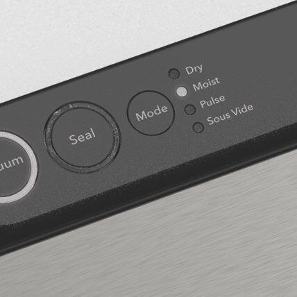 Vacuum sealer for food user panel